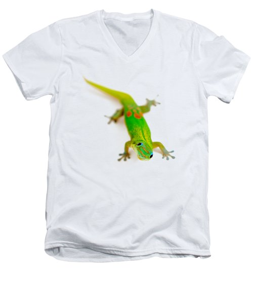 Green Gecko Men's V-Neck T-Shirt
