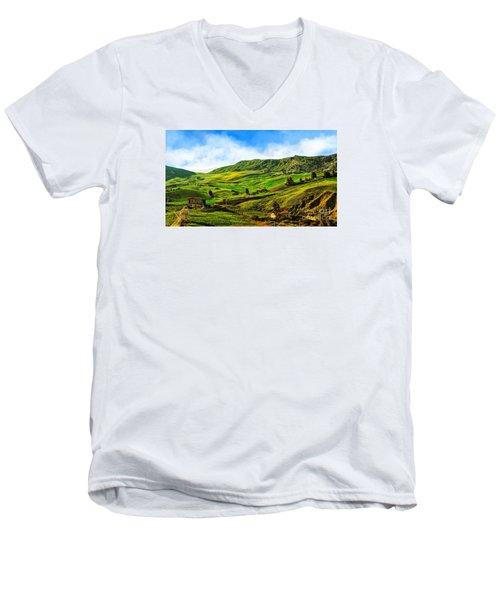 Green Hills Men's V-Neck T-Shirt