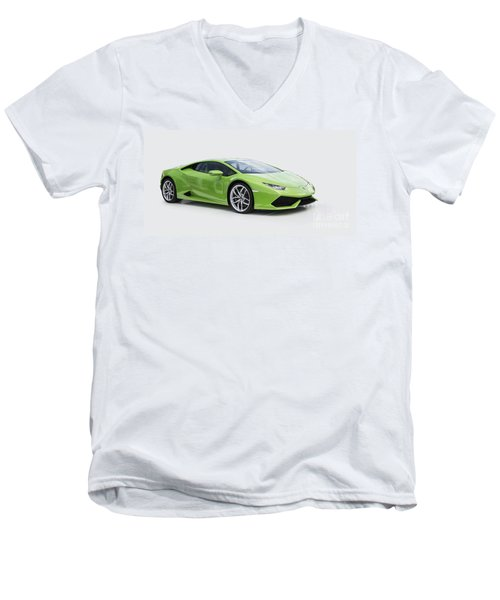 Green Huracan Men's V-Neck T-Shirt