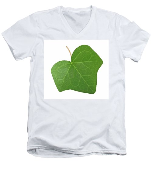 Green Ivy Leaf Men's V-Neck T-Shirt by GoodMood Art