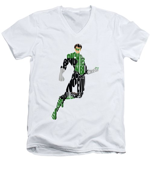 Green Lantern Men's V-Neck T-Shirt