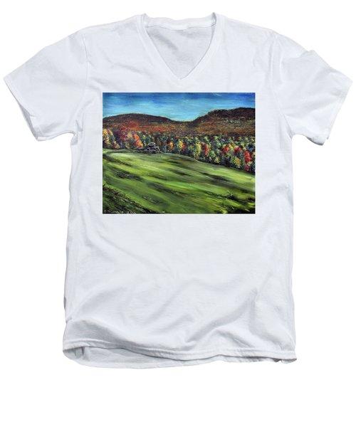 Green Mountain Retreat Men's V-Neck T-Shirt