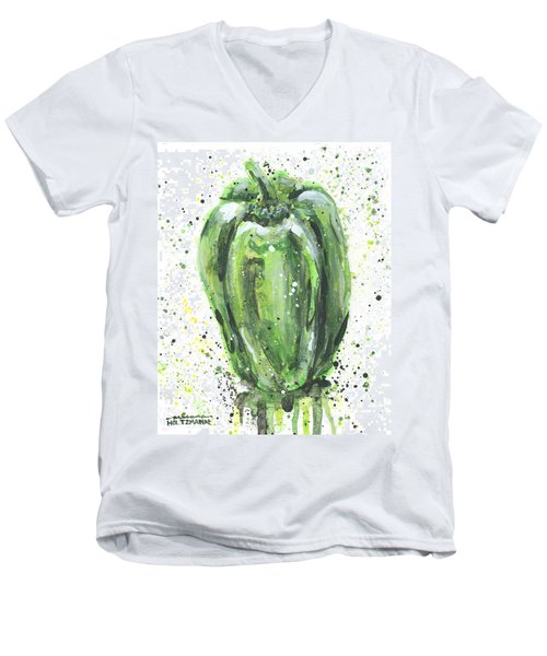 Green Pepper Men's V-Neck T-Shirt