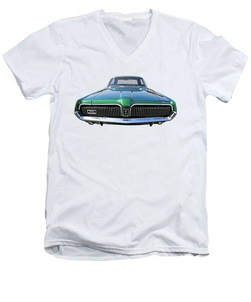 Green With Envy - 68 Mercury Men's V-Neck T-Shirt by Gill Billington