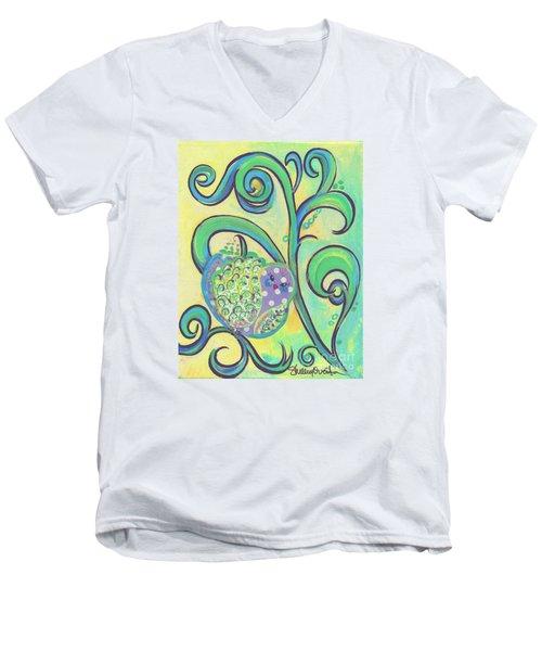 Greenbriar Birdy Men's V-Neck T-Shirt by Shelley Overton
