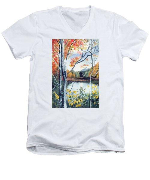 Greenbriar River, Wv 2 Men's V-Neck T-Shirt by Katherine Miller