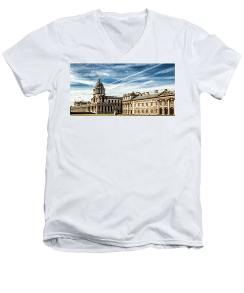 Greenwich University Men's V-Neck T-Shirt