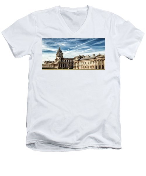 Greenwich University Men's V-Neck T-Shirt