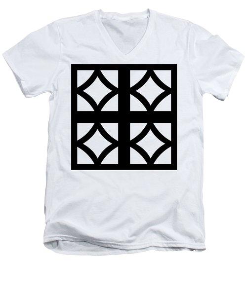 Grid 2  Men's V-Neck T-Shirt