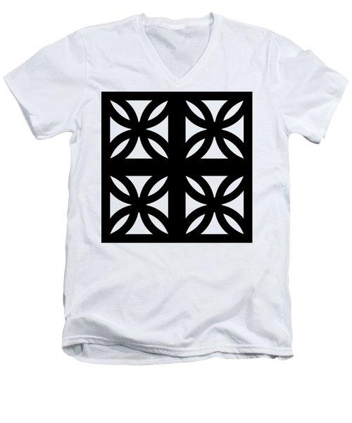 Grid 3 Transparent Men's V-Neck T-Shirt