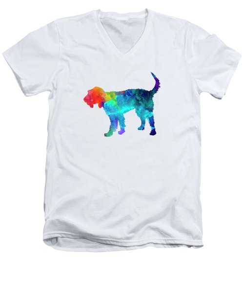Griffon Nivernais In Watercolor Men's V-Neck T-Shirt