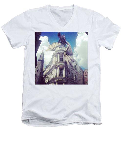 Gringotts  Men's V-Neck T-Shirt by Kate Arsenault