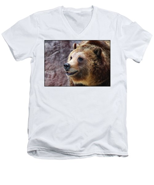 Grizzly Smile Men's V-Neck T-Shirt