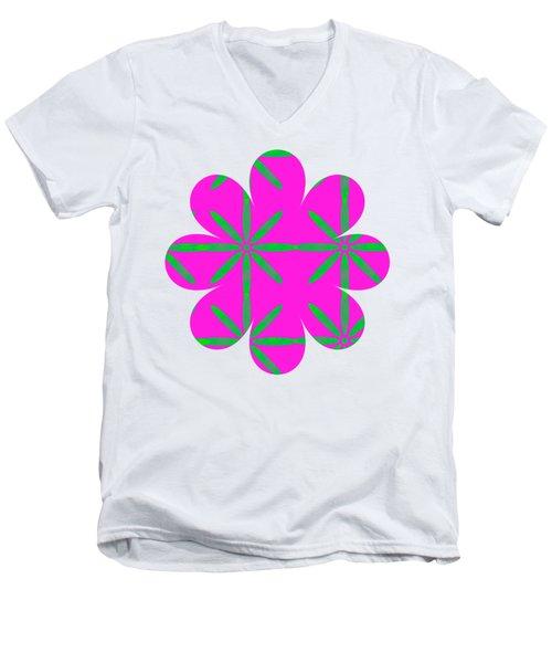 Groovy Flowers Men's V-Neck T-Shirt