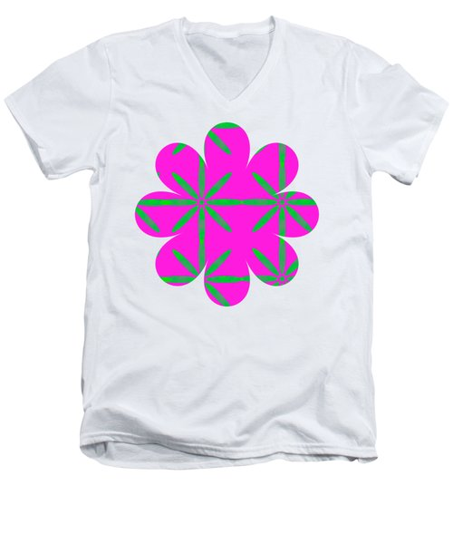 Groovy Flowers Men's V-Neck T-Shirt