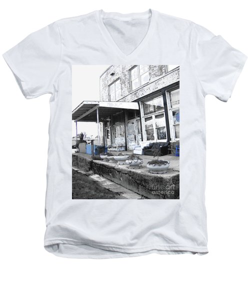 Ground Zero Men's V-Neck T-Shirt by Lizi Beard-Ward