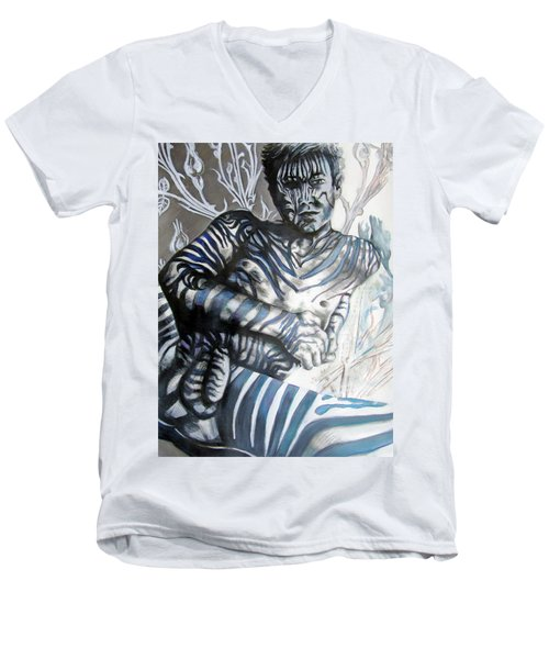 Growing Pains Zebra Boy  Men's V-Neck T-Shirt