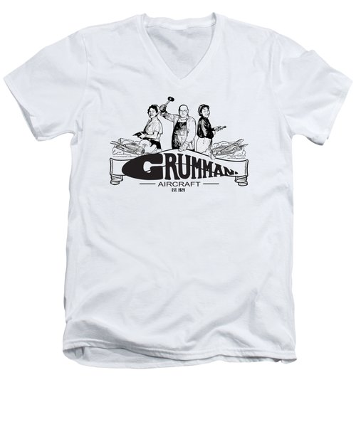 Grumman Aircraft Est 1929 Men's V-Neck T-Shirt
