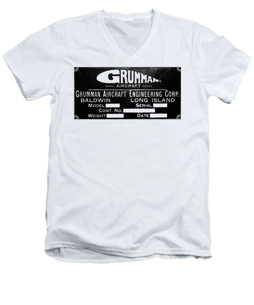 Grumman Product Plate Men's V-Neck T-Shirt