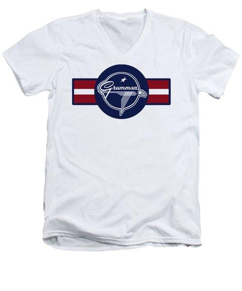 Grumman Stripes Men's V-Neck T-Shirt
