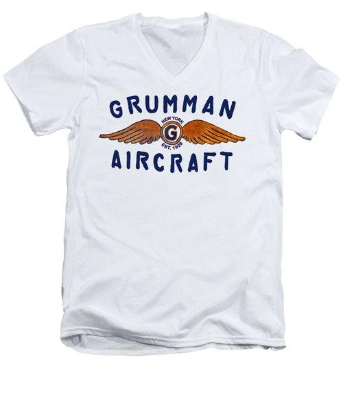 Grumman Wings Blue Men's V-Neck T-Shirt