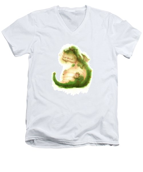 Grumpy Dragon Men's V-Neck T-Shirt