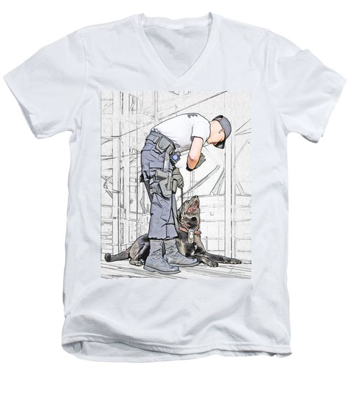 Guarding The City Men's V-Neck T-Shirt