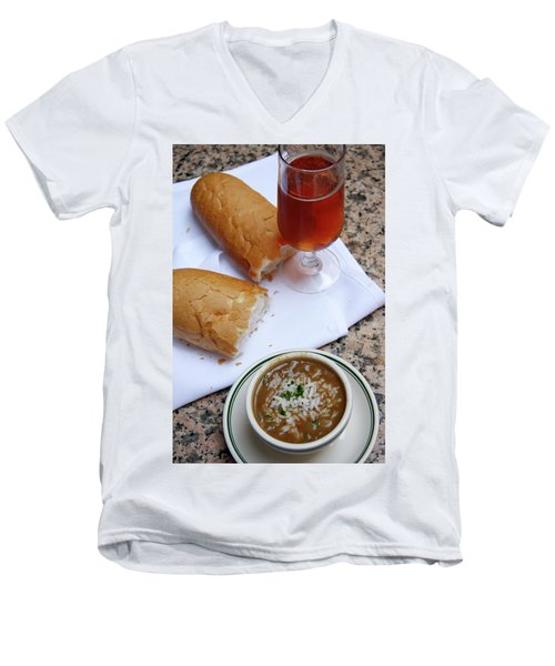 Gumbo Lunch Men's V-Neck T-Shirt
