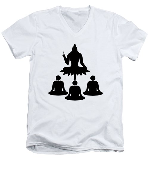 Guru Parampara Men's V-Neck T-Shirt