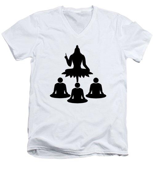Guru Parampara Men's V-Neck T-Shirt