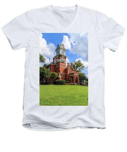 Gwinnett County Historic Courthouse Men's V-Neck T-Shirt