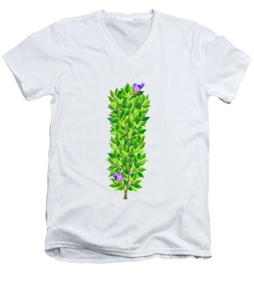 H Is For Hedgehog And Hammock Men's V-Neck T-Shirt