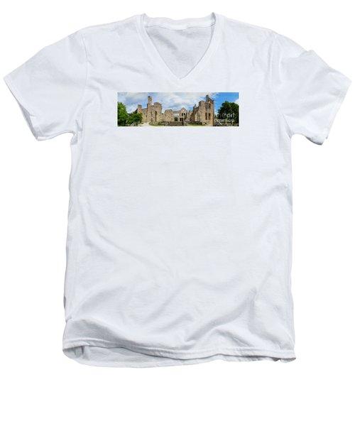 Ha Ha Tonka Castle Panorama Men's V-Neck T-Shirt