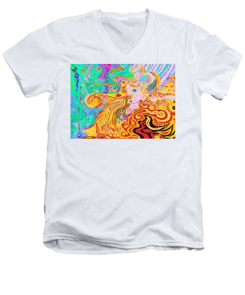 Hair Of The Divine Universe Men's V-Neck T-Shirt