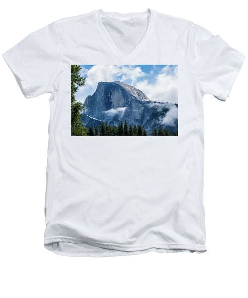 Half Dome In The Clouds Men's V-Neck T-Shirt