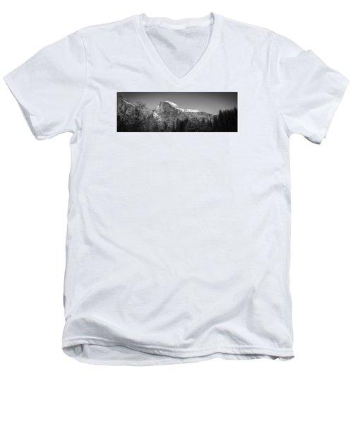 Half Dome In Winter Men's V-Neck T-Shirt