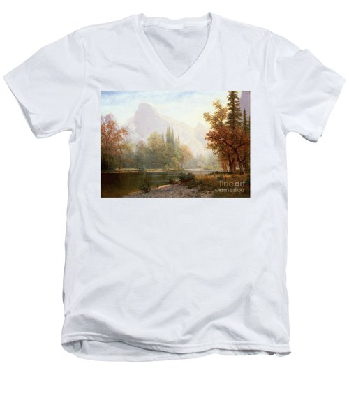 Half Dome Yosemite Men's V-Neck T-Shirt