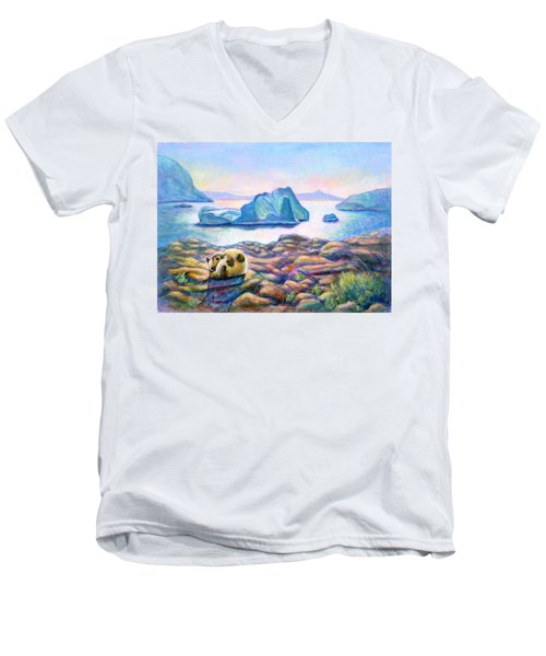 Half Hidden Men's V-Neck T-Shirt by Retta Stephenson