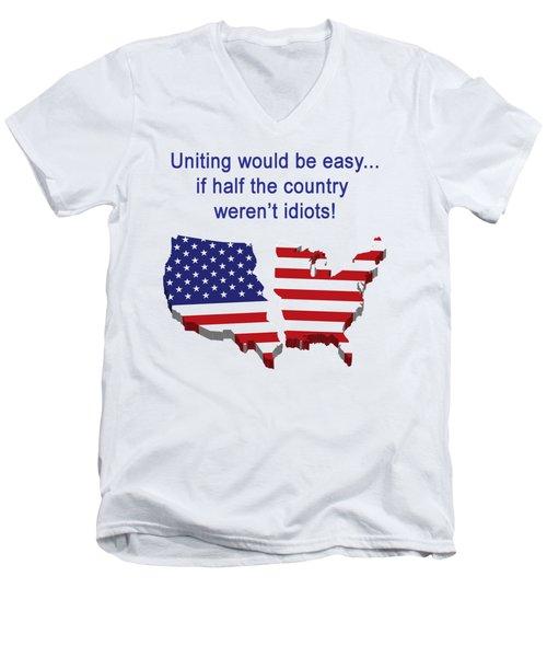 Half The Country Men's V-Neck T-Shirt
