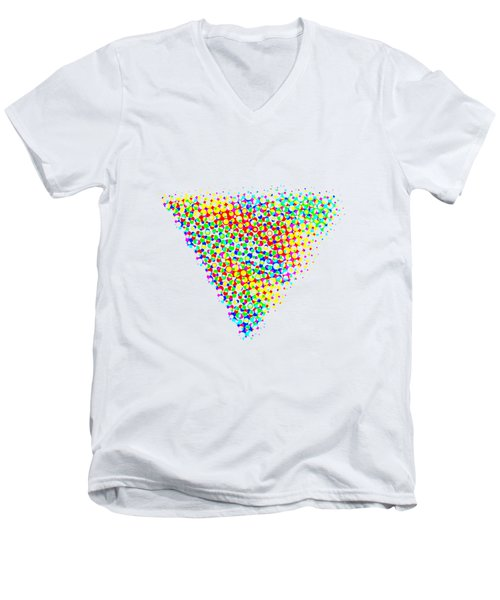 Halftone Triangle  Men's V-Neck T-Shirt