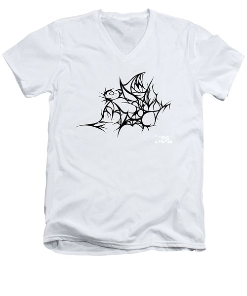Hallow Web Men's V-Neck T-Shirt