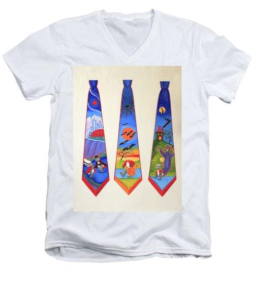 Halloween Ties Men's V-Neck T-Shirt