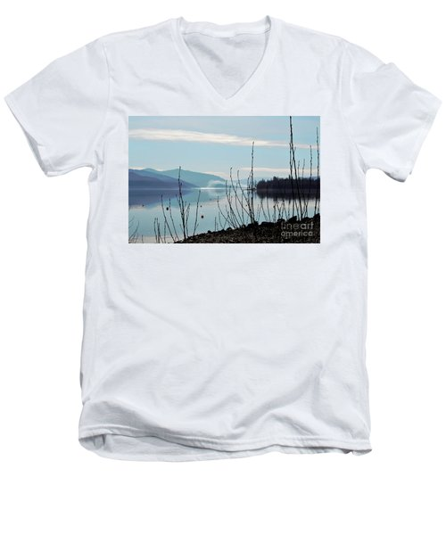Men's V-Neck T-Shirt featuring the photograph Halo On Copper Island by Victor K