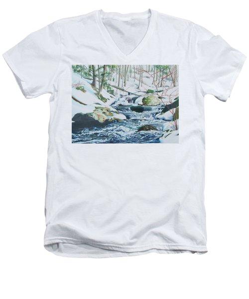 Hamburg Mountain Stream Men's V-Neck T-Shirt