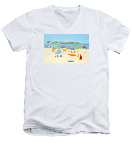 Hampton Beach Umbrellas Men's V-Neck T-Shirt