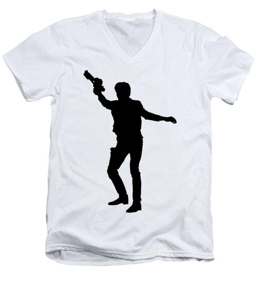 Han Solo Star Wars Tee Men's V-Neck T-Shirt by Edward Fielding