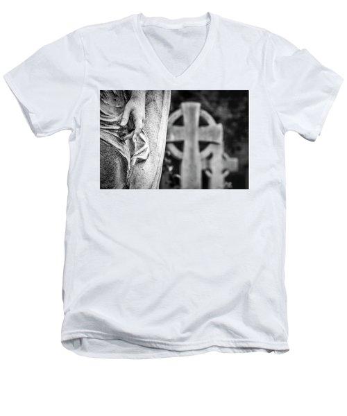 Hand And Cross Men's V-Neck T-Shirt