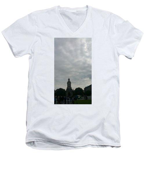 Hand Pressing The Sky Men's V-Neck T-Shirt