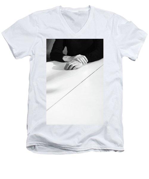Hands #3110 Men's V-Neck T-Shirt