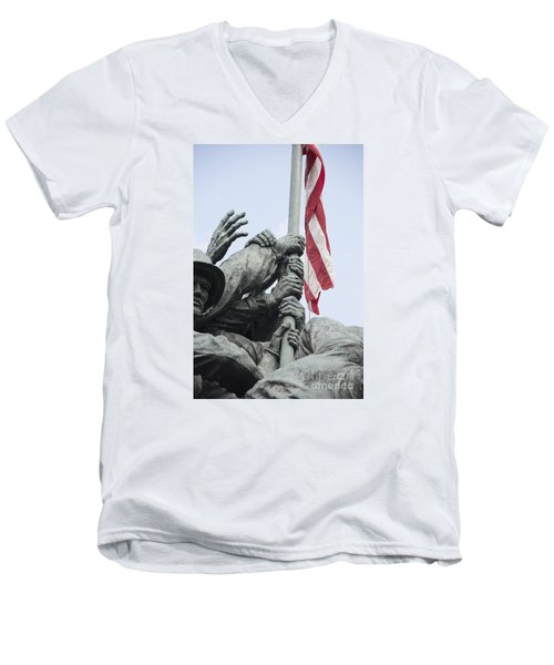 Hands Of Suribachi Men's V-Neck T-Shirt